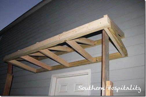 House renovations week 10 building a door roof or how for Building front door design
