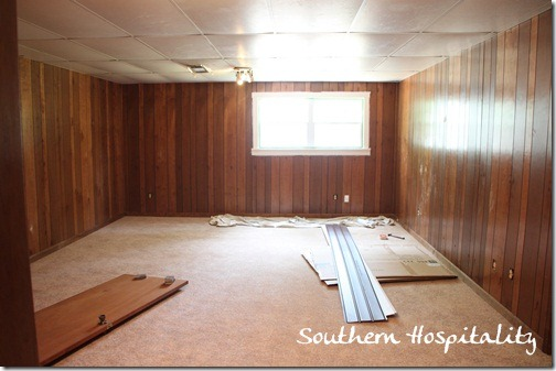 House Renovation Week 12 Paint That Paneling People! - Southern Hospitality & House Renovation: Week 12 Paint That Paneling People! - Southern ...
