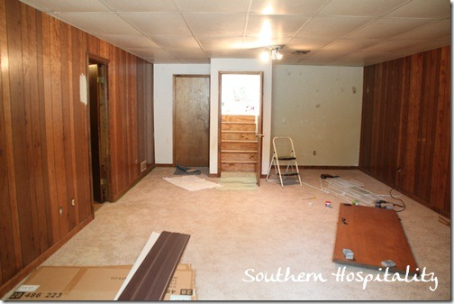House renovation week 12 paint that paneling people Paneling makeover ideas