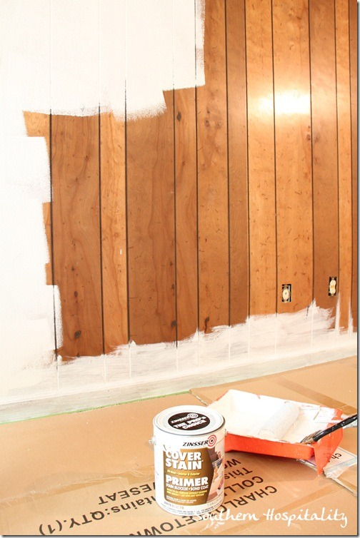 House renovation week 12 paint that paneling people How to cover old wood paneling