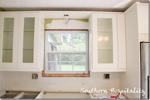 I Have Glass Doors On Either Side Of The Sink. The Window Will Be Trimmed  Out With Molding And Iu0027ll Tile The Backsplash. My Ballardu0027s Green Pendant  Light ...