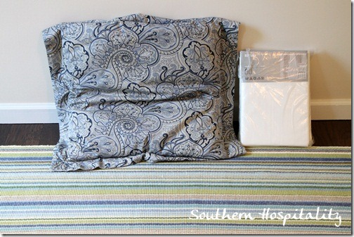 Rug and pillow sham