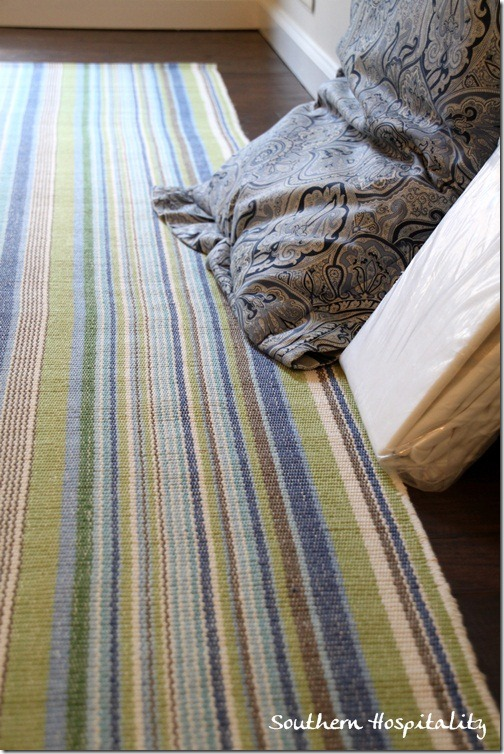 blue and green Dash and Albert rug