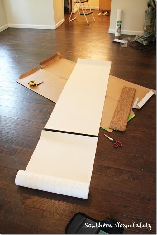 cutting beadboard wallpaper