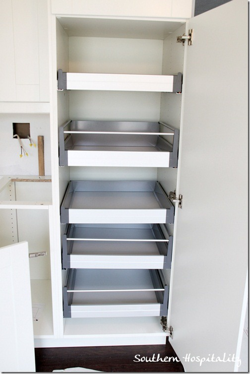 Pantry cabinet kitchen pantry cabinet with pull out - Roll out shelving for pantry ...