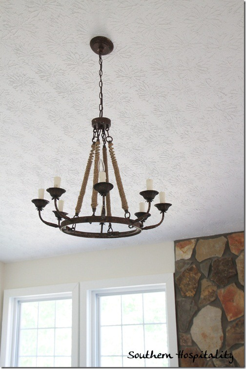 Ballard Designs light fixture living room