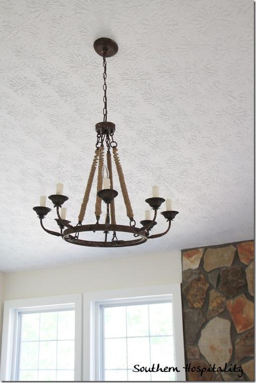 Ballard Designs light fixture living room