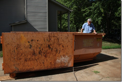 Dad dumpster