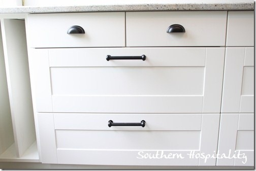 Ikea Adel cabinets with hardware