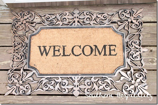 Kirklands welcome mat