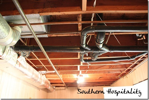 painting an industrial ceiling black rh southernhospitalityblog com electrical wiring in basement ceiling Wiring a Basement Room
