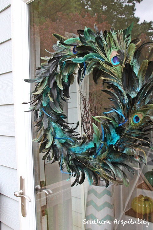 Fall outdoor decorating ideas for porch - Outdoor peacock decorations ...