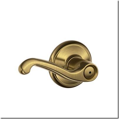 Schlage antique brass
