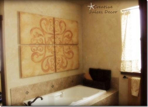 blog rustic tuscan master bathroom