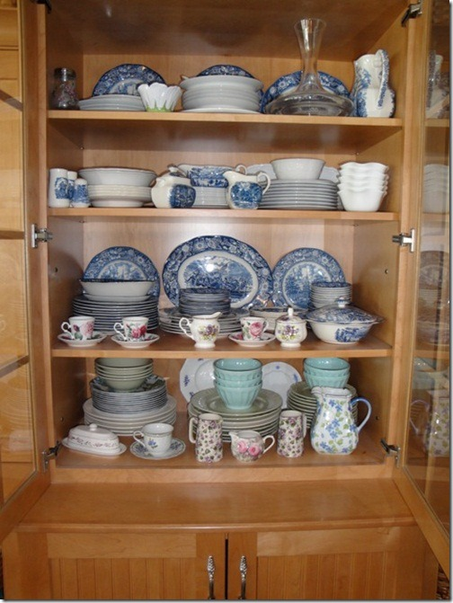 dishes in hutch