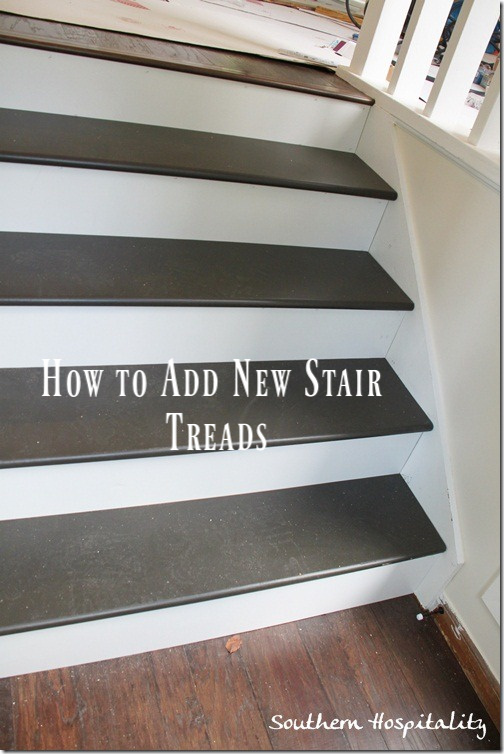 How to add new stair treads