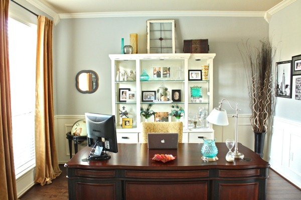 home office in dining room. Dancing With Ashley Dining Room Turned Office. Adding Architectural Moldings Home Office In O