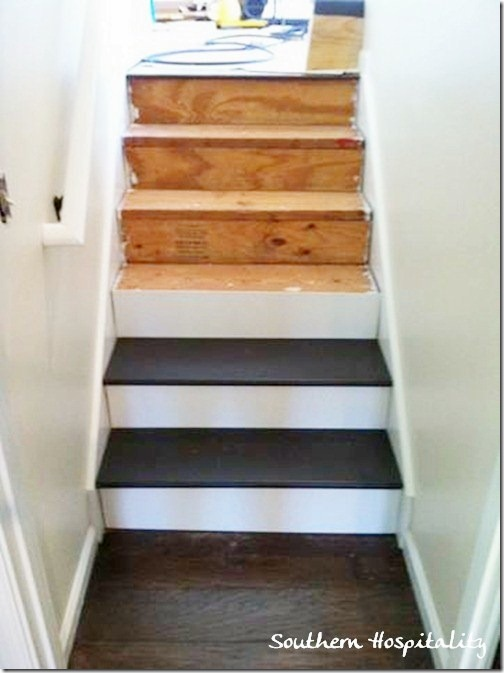 Week 20 how to install new stair treads southern hospitality - How to build a garage cheaply steps ...