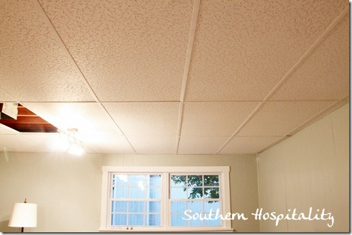 replacing drop ceiling tiles