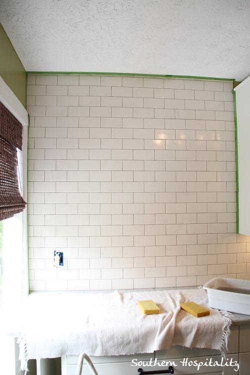 how to tile subway tile backsplash