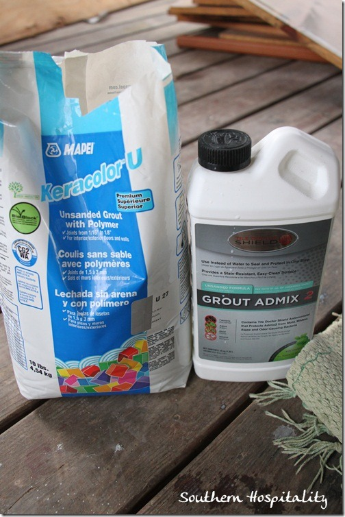 grout and admix
