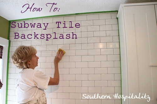how to install subway tile backsplash - Bathroom Subway Tile Backsplash