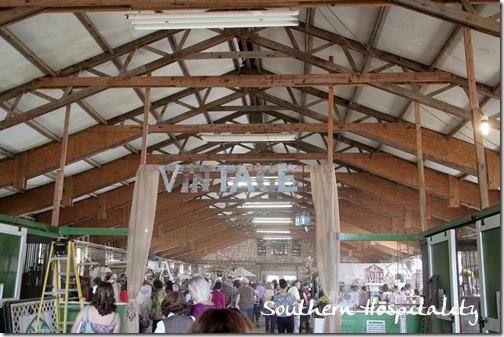 in the barn