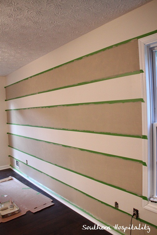 Painting Stripes On Wall With Same Color