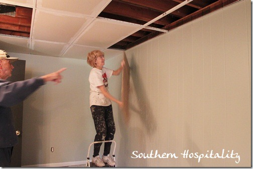 removing ceiling tiles