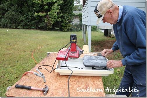 setting up wetsaw