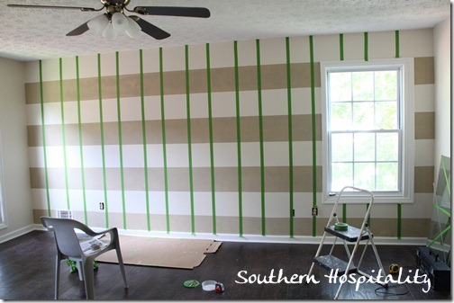 vertical stripes taped