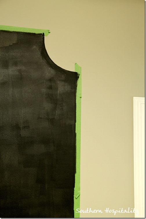 Chalkboard paint with Frogtape