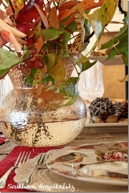 Gold Vase Holiday Tablescape