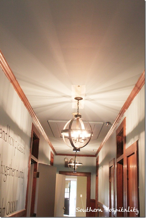 Hall lighting from Lowes