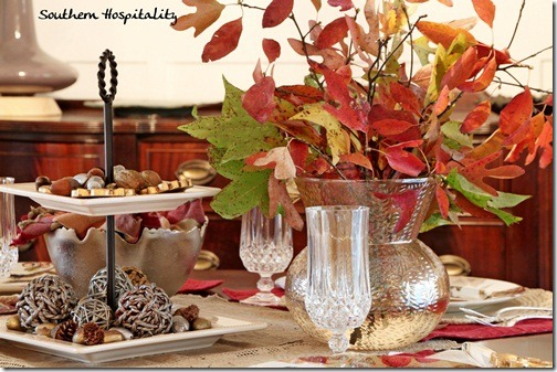 Holiday Christmas tablescape