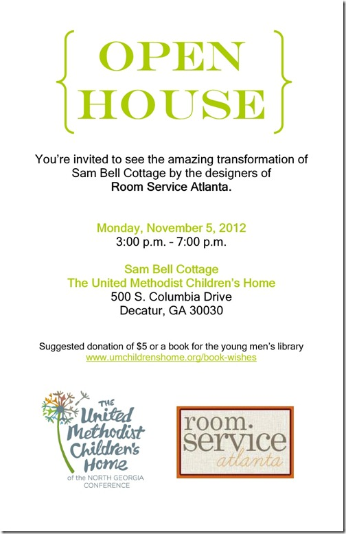 Sam Bell Open House Invite