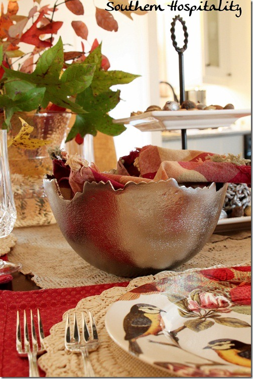 Silver Bowl holiday tablescape