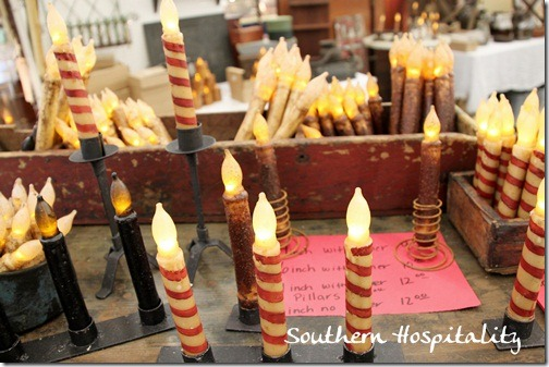 Wax battery candles