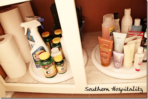 bathroom storage lazy susan