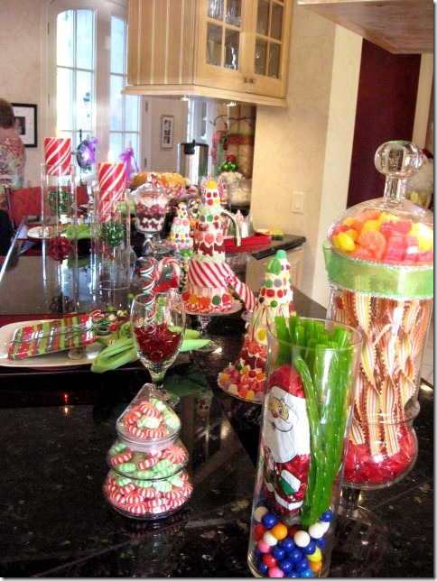candy and Christmas candy trees