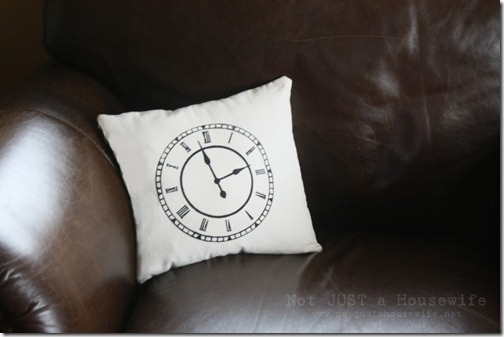 clock pillow Stacy