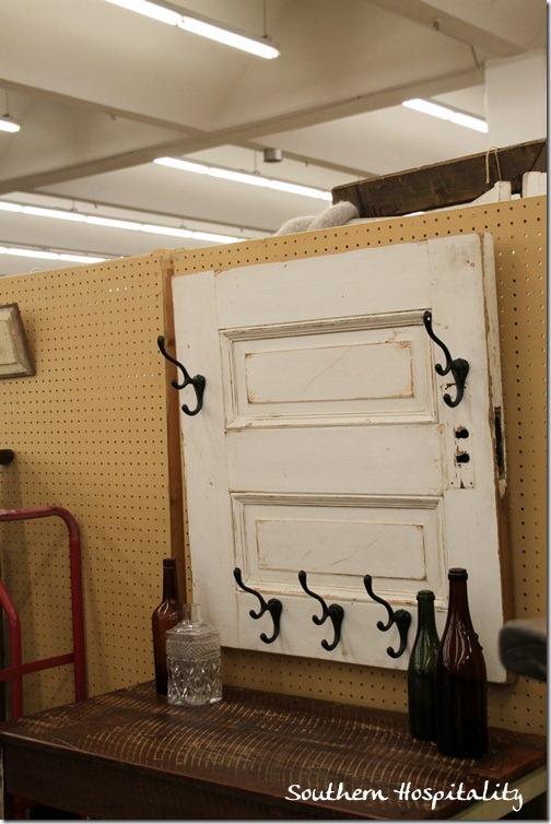 old door with hooks