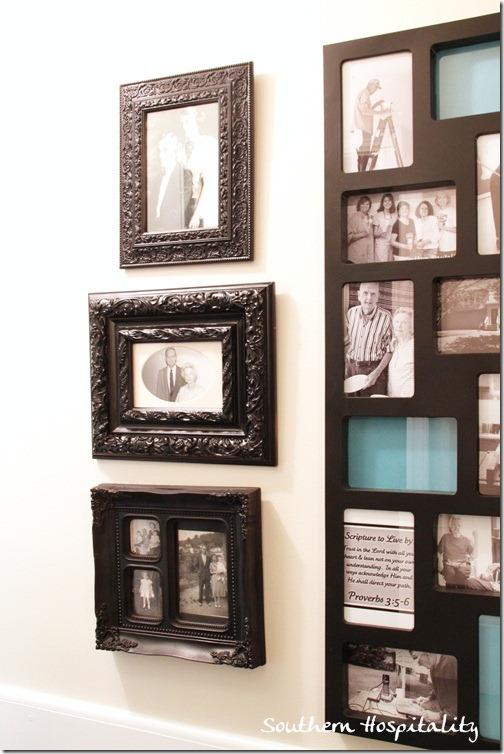 Black framed family pics