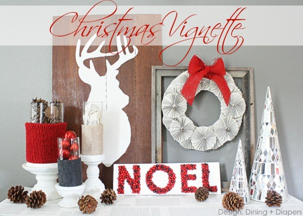 Adding color to decor southern hospitality - Christmas Decorating Vignettes
