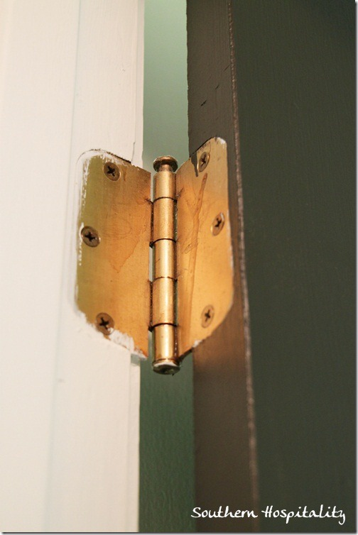 antique brass hinge
