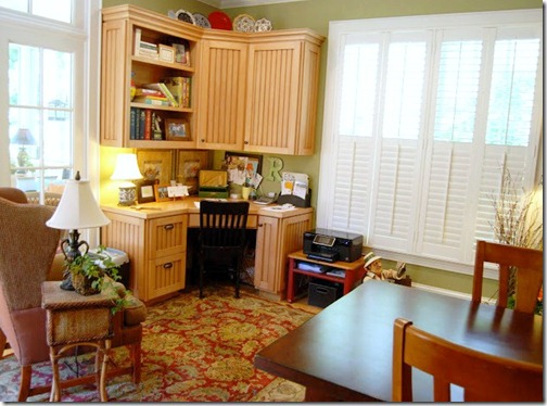kitchen desk area