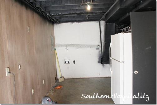 laundry room black ceiling