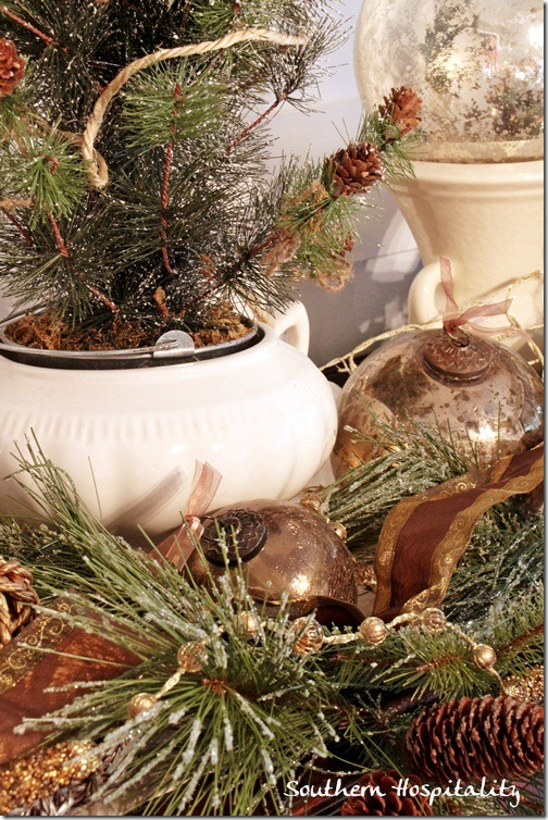 soup tureen with tree