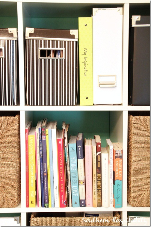 Books on Ikea Expedit