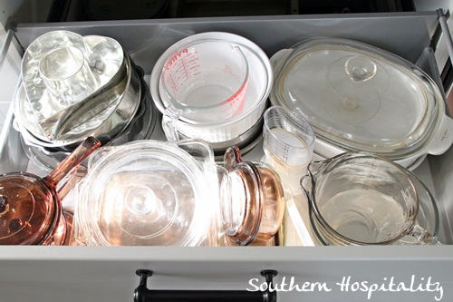 Ikea Kitchen Renovation glass drawer